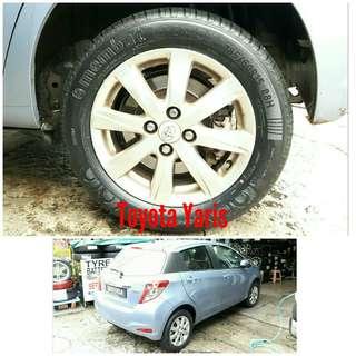 Tyre 185/60 R15 Membat on Toyota Yaris 🐕 Super Offer 🙋♂️