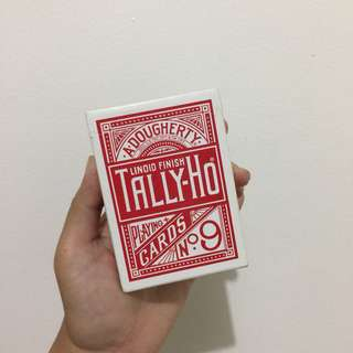 Tally-Ho Red Circle Back Playing Cards