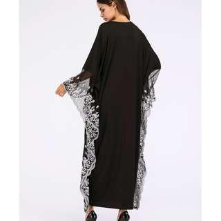 Embroidery Kaftan Dress