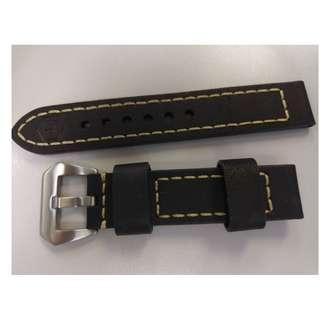 20 MM 頭層牛皮表帶, 優質厚皮料(4MM厚)