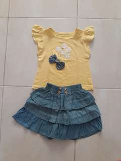 GW set top + skirt