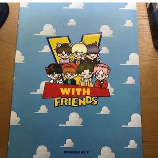 防彈韓站 because of v - v with friends
