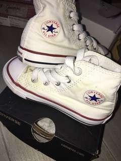 Converse High Cut White Shoes US 6