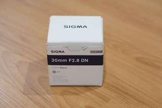 Sigma 30mm F2.8 E-Mount