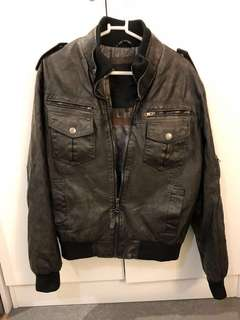 Indicode Jeans Pawel Faux Leather Jacket