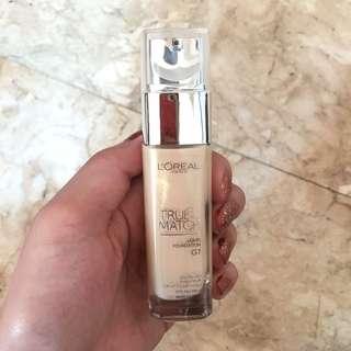 L'Oreal Paris True Match Liquid Foundation in the shade G1