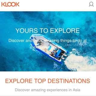 Klook Voucher Promo Code Invite