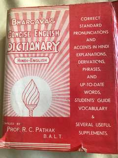 Excellent Hindi English Dictionary by Prof RC Pathak