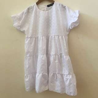 pretty little thing white babydoll dress