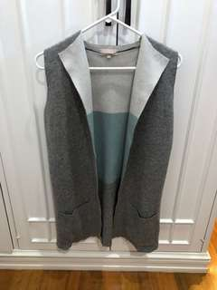 Tricolor Cardigan Vest