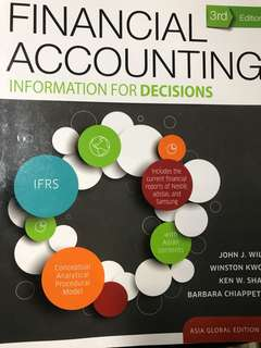 Financial accounting, information for decisions