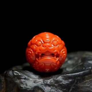 ☄️大尺寸☄️極罕有頂級瓦西南紅獸球珠
