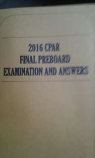 2016 CPAR Final Preboard Examination and Answers Bookbinded