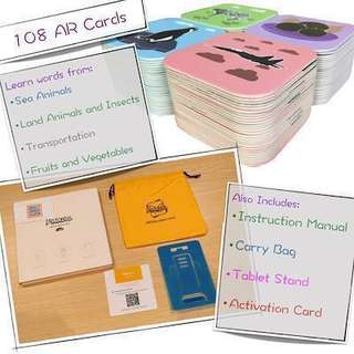 2-in-1 AR Flash cards | Learn and Play at the same time.