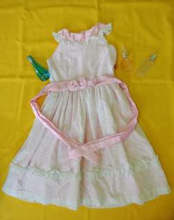 Baby pink floral gown/dress