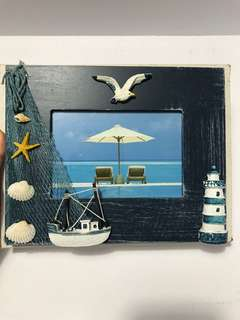 Nautical themed photo frame