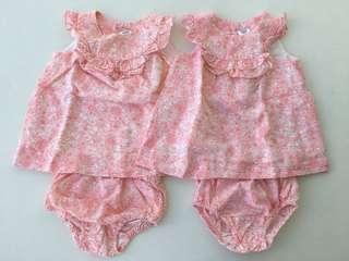 Zara baby girl twin dresses