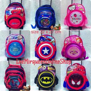 KIDS CHARACTER TROLLEY BAG