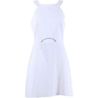 Topshop Off White Halter Neck Mini Dress