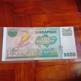 Cut error, Bird Series $500 note 1pcs.