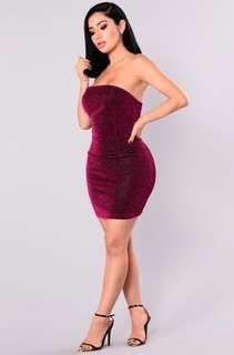 Fashion Nova Eloise metallic dress