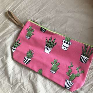 Pink cactus pouch