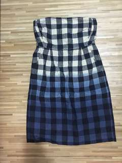 GAP Checkered Tube Dress