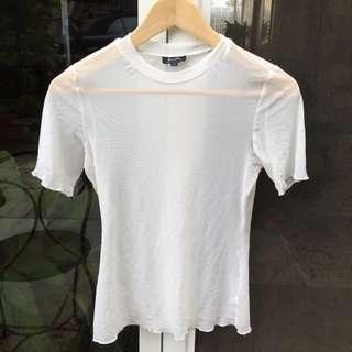 Bardot white mesh top