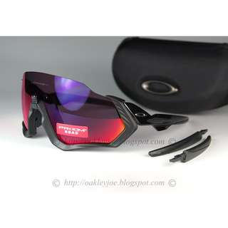 Brand New Oakley Flight Jacket polished black + road prizm oo9401-0137