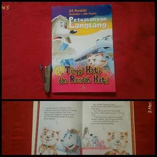 Buku anak Petualangan Langlang Tinggi Hati dan Rendah Hati
