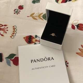 PANDORA rose gold elegance ring