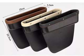 **NEW IMPROVED** Leather ABS Car Seat Pocket Organiser Storage