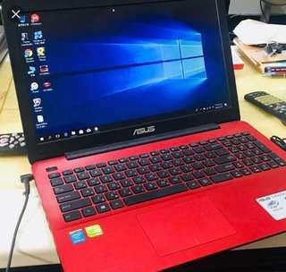 ASUS X555L 鮮豔紅 筆記型電腦 二手電腦 價錢可議