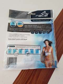Wearable water proof pouch