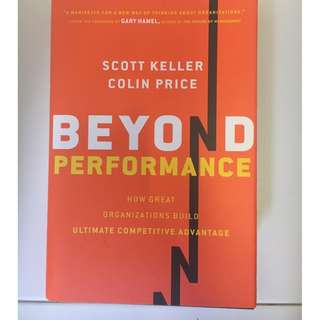 Beyond Performance by Scott Keller and Colin Price