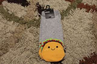 Authentic Forever 21 Gray/Yellow Burger Socks