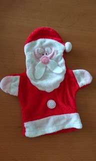 聖誕老人公仔 毛巾手套布偶