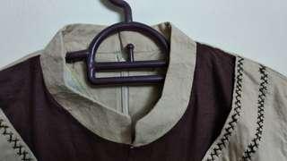 Long sleeve blouse brown