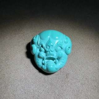 ✥松石✥高瓷深色玉化料《守護》,朱潇作品