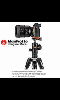 Manfrotto MKBFRLA-BH Befree Advanced Aluminium Tripod for Sony Alpha Edition