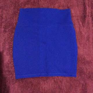 Forever 21 Blue Bandage skirt
