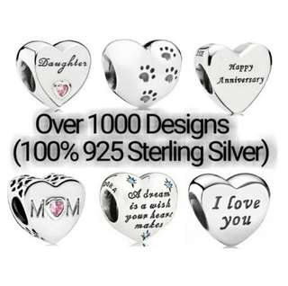 Over 1000 Designs (925 Sterling Silver Charms) To Choose From, Compatible With Pandora, T14