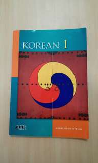 LK9001 Korean 1 Textbook