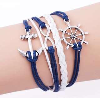 Ladies Handmade Anchor Bracelet