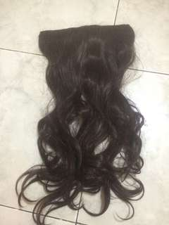 Hairclip Dark Brown Wavy