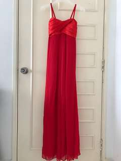 Red dinner dress (with padding)