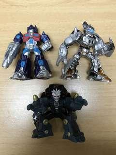Hasbro Transformers Movie Robot Heroes Optimus Prime, Jazz & Blackout set of 3