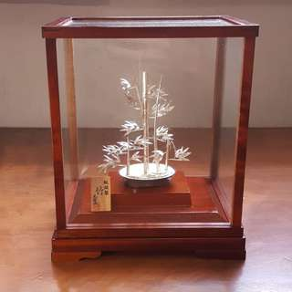Pure Silver Bamboo Ornament by Mitsunori