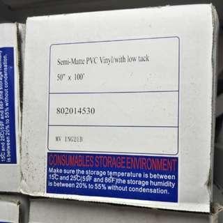 Semi-matte PVC sticker