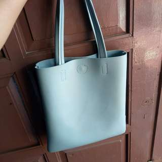 Miniso tote bag (Blue)